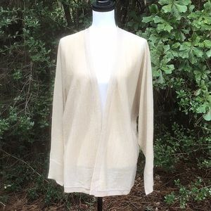 Lovely Gold Open Front Sweater NWT Size M